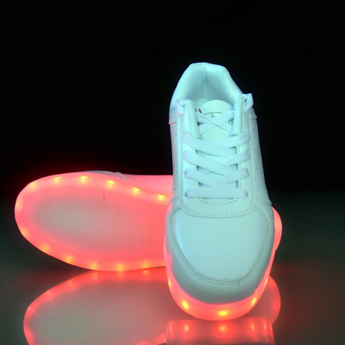 CABRON Miami Unisex White color LED Shoes for Both Men & Women, Party In Style.